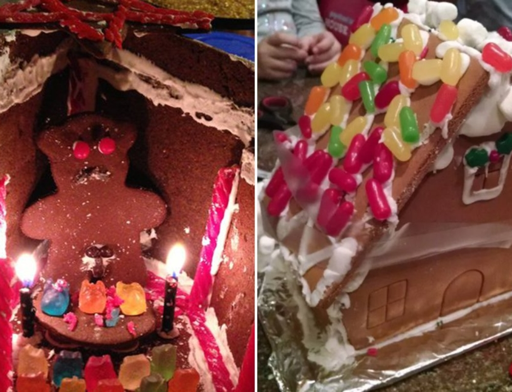 Gingerbread house fails are better than successes ever would be (30 Photos)